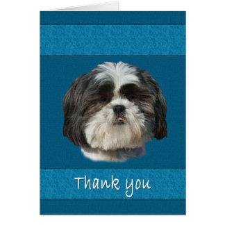 Merci, carte de chien de Shih Tzu