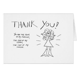 Merci ! Carte de Crazyhair - colorez-la vous-même