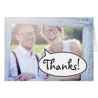 Merci !  Carte de mémoire à bulles de mot