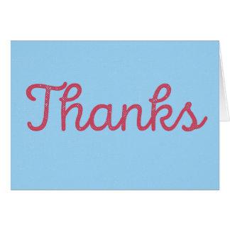 Merci, celui étaient gentils. rouge/bleu de la cartes de vœux