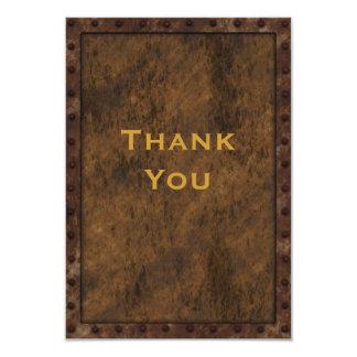 Merci d'anniversaire de garçons d'effet encadré carton d'invitation 8,89 cm x 12,70 cm