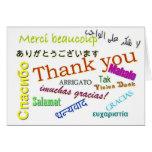 Merci dans la carte de beaucoup de langues différe
