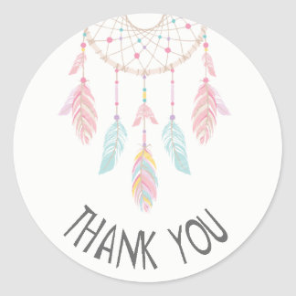 Merci d'autocollant de baby shower de Dreamcatcher Sticker Rond