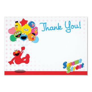 Merci de ballons d'anniversaire d'Elmo et de Carton D'invitation 8,89 Cm X 12,70 Cm