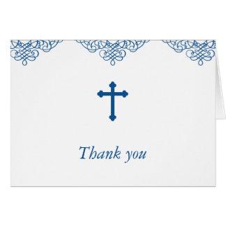Merci de baptême/baptême de garçons bleus