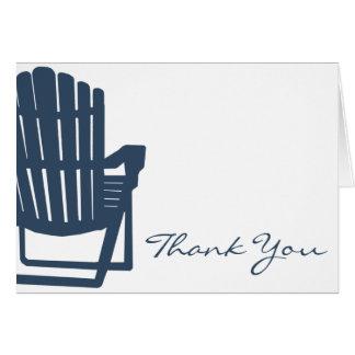 Merci de bleu marine de chaise d Adirondack Cartes De Vœux