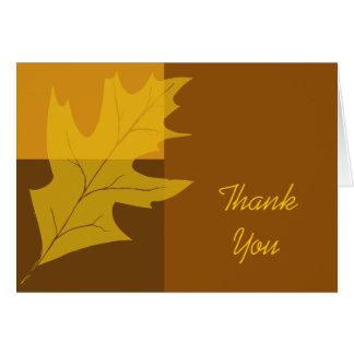 Merci de bloc de couleur de feuille de chute cartes de vœux