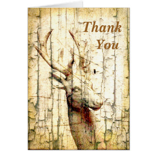 Merci de cerfs communs cartes de vœux
