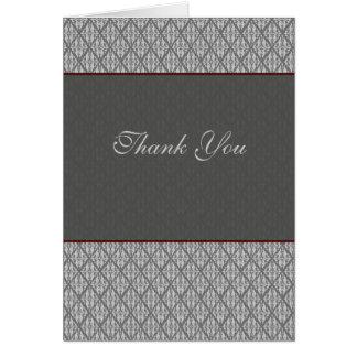 Merci de damassé carte de vœux