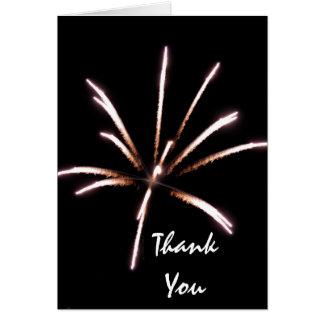 Merci de feux d'artifice cartes de vœux