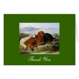 Merci de golden retriever, d'Irlandais et de Cartes De Vœux