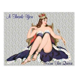 Merci de la reine carte postale