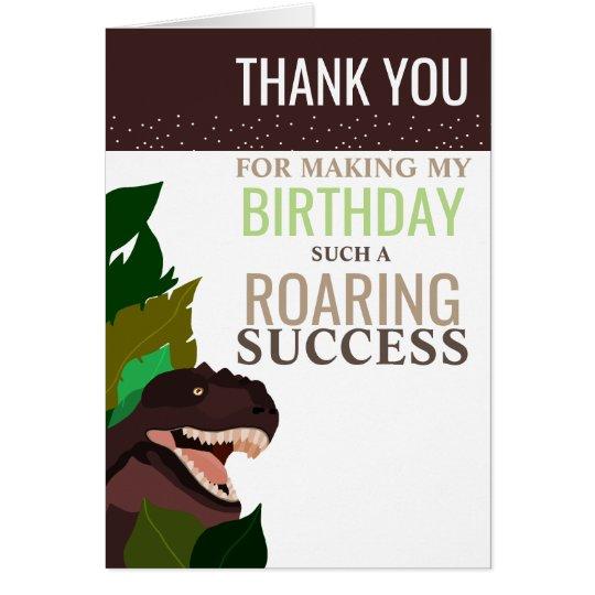 Merci de l'anniversaire des enfants de partie de carte de vœux