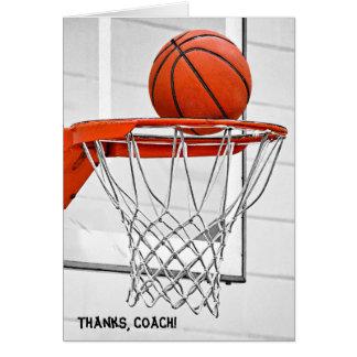merci de l'entraîneur de football carte de vœux