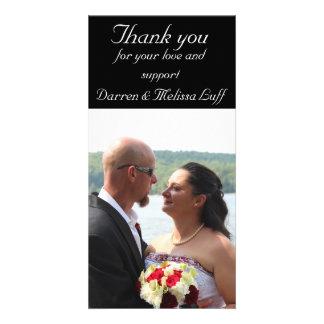 Merci de mariage photocartes