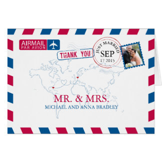 Merci de mariage de par avion de la FLORIDE Cartes De Vœux