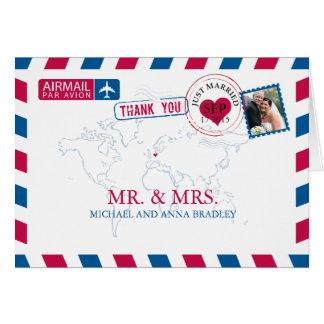 Merci de mariage de par avion de l'ALLEMAGNE Cartes De Vœux
