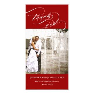 Merci de mariage de photo de manuscrit personnalis cartes de vœux avec photo