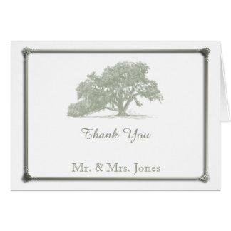 Merci de mariage de plantation de chêne cartes de vœux