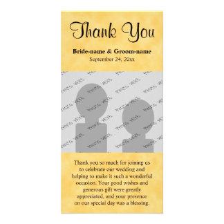 Merci de mariage Jaune et noir Cartes De Vœux Avec Photo