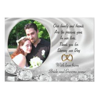 Merci de mariage pour des faveurs avec le portrait carton d'invitation  12,7 cm x 17,78 cm