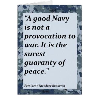 Merci de marine pour votre carte de service