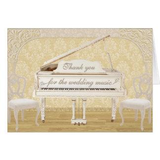 Merci de musique de mariage avec le blanc et le carte de vœux