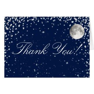 Merci de nuit étoilée cartes de vœux