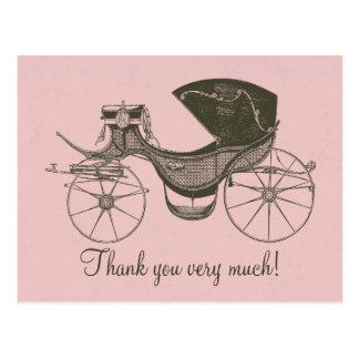 Merci de princesse baby shower carte postale