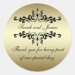 Merci de remous de noir d'or épousant des autocoll