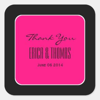Merci de ROSES INDIEN et de NOIR épousant V51 Stickers Carrés