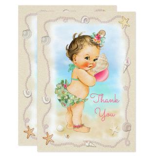 Merci de Shell de conque de bébé de plage de brune Carton D'invitation 8,89 Cm X 12,70 Cm