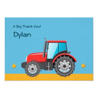 Merci de véhicule de ferme de tracteur invitations