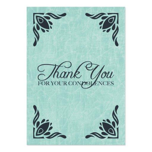 merci de vos condoléances cartes de visite professionnelles