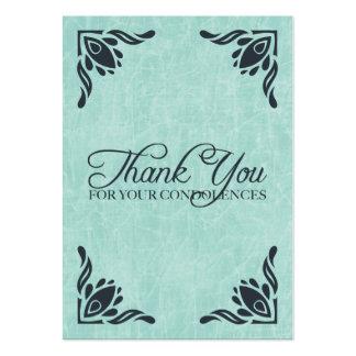 merci de vos condoléances carte de visite grand format