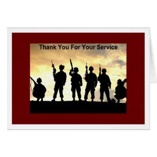 merci de votre service carte de vœux