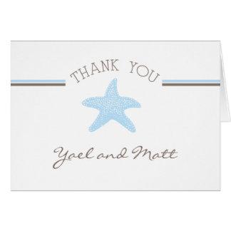 Merci d'étoiles de mer cartes de vœux