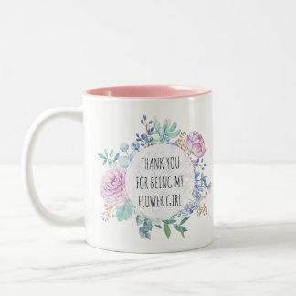 merci d'être ma tasse florale de demoiselle de