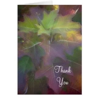 Merci d'hortensia de feuille de chêne de chute cartes de vœux