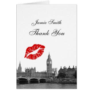 Merci du baiser #1 BW d'horizon de Londres Cartes De Vœux