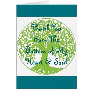 Merci du fond ma carte de coeur et d'âme