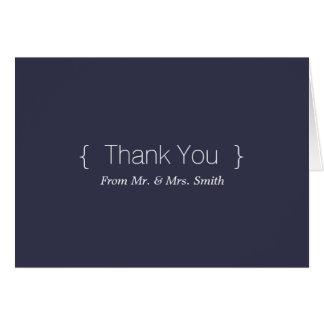 Merci élégant simple personnalisé carte de vœux