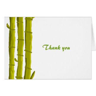 Merci en bambou cartes de vœux