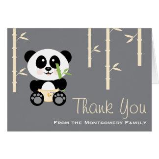 Merci en bambou jaune de baby shower de cartes de vœux
