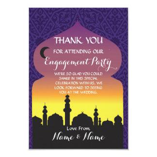 Merci épousant la carte de mille et une nuits carton d'invitation 8,89 cm x 12,70 cm