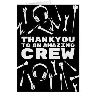 Merci équipage carte de vœux