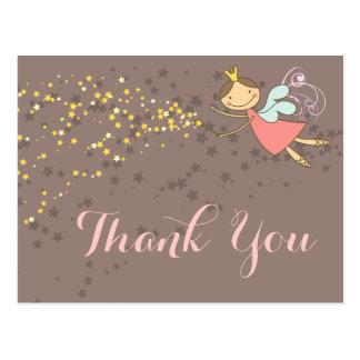 Merci féerique lunatique de princesse Girl Cartes Postales
