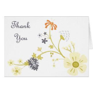 Merci - fleur carte de vœux