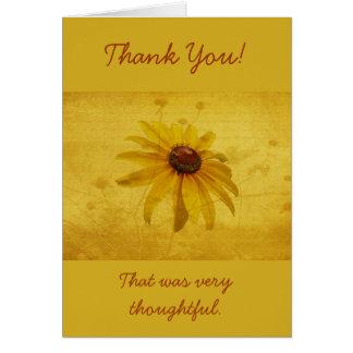 Merci - fleur sauvage Noir-Eyed de Susan Carte De Vœux