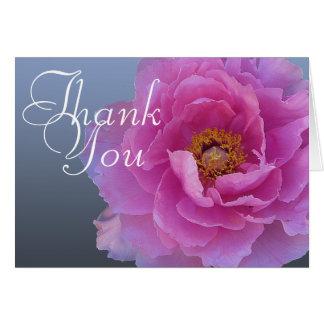Merci floral chic de mod de pivoine de photo rose cartes